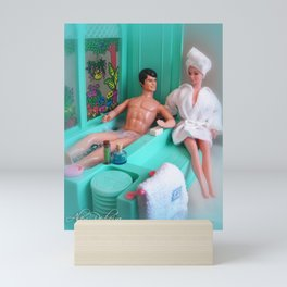 Barbie and Ken in the bathroom.  04 Mini Art Print