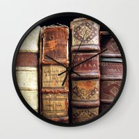 library Wall Clocks featuring Library by Mad Marys