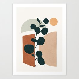 Soft Shapes V Art Print