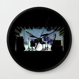 Bright Rock Band Stage Wall Clock