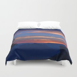Colorful Sunset - North_Rim, Grand_Canyon, AZ Duvet Cover