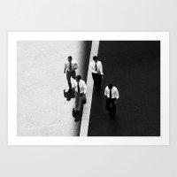 Four men Art Print