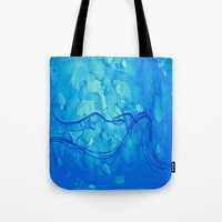 aquarius Tote Bags featuring Aquarius  by HollyJonesEcu