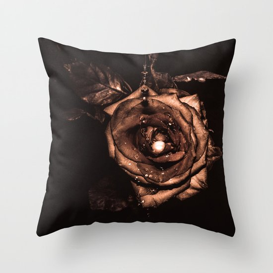 (he called me) the Wild rose Throw Pillow