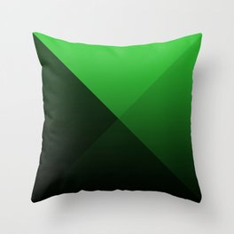 green triangle luminosity with darken and bright colors Throw Pillow