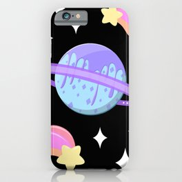 Melty Minty Planet iPhone Case