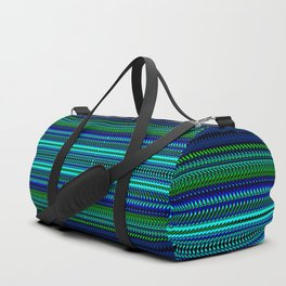 Nautical Rag Weave Quad 1 by Chris Sparks Duffle Bag