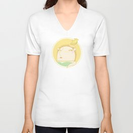 HEDGEHOGS WEARING HATS Unisex V-Neck