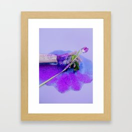 hand with tulip and glitter Framed Art Print