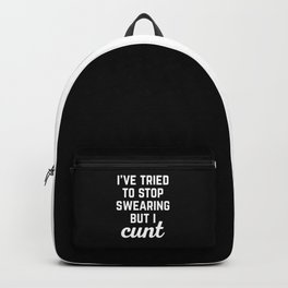 Stop Swearing Funny Quote Backpack
