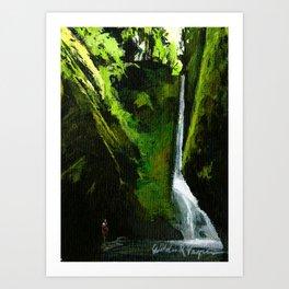 Oneonta Falls, Oregon Art Print