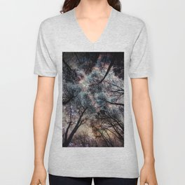 Starry Sky in the Forest Unisex V-Neck