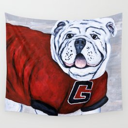 Georgia Bulldog Uga X College Mascot Wall Tapestry