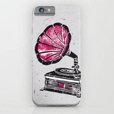Linocut Gramophone Slim Case iPhone 6s