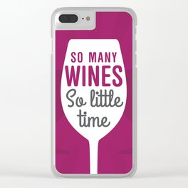 So Many Wines Clear iPhone Case