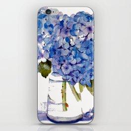 Hydrangea painting iPhone Skin