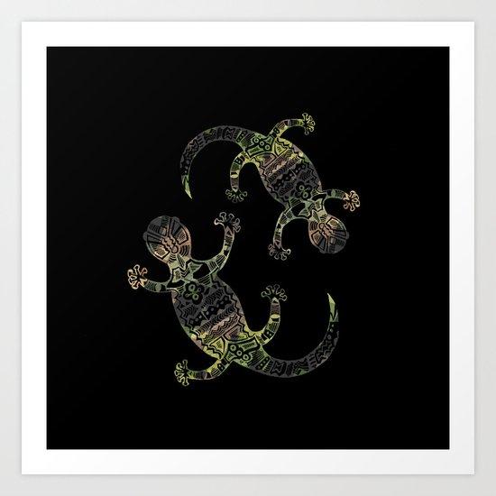 salamanders Art Print