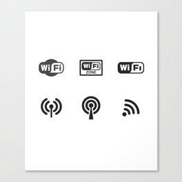 Wifi Zone Canvas Print