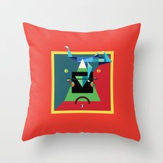 bicycle day Throw Pillow