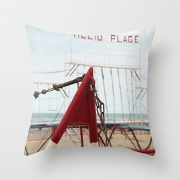 Beach H Throw Pillow