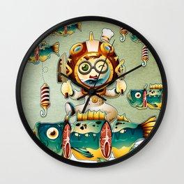 The undersea chef Wall Clock