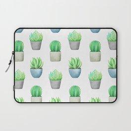 Succulent and Cactus Garden Pots Pattern Laptop Sleeve