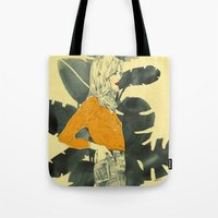 plants Tote Bags featuring Plants by Magdalena Pankiewicz