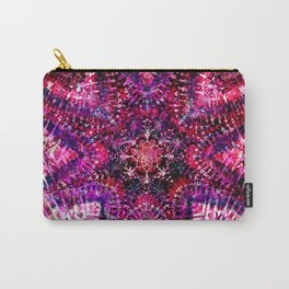 Pink Star Ice Tye Dye Carry-All Pouch