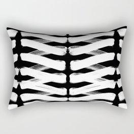Zigzag white Rectangular Pillow