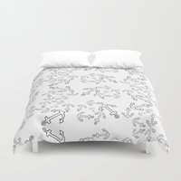 anchors Duvet Covers featuring Anchors by Bethany Mallick