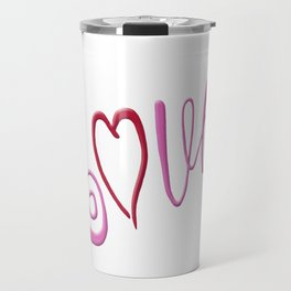 Love Text Travel Mug