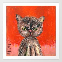 Olivia the Cat Art Print