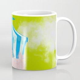 Cotton Candy Sky Cat Electric Lime Coffee Mug
