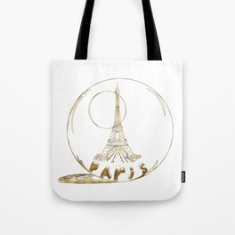 Golden Paris . Eiffel tower . Art Tote Bag