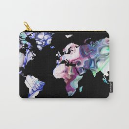 Pastel Map Carry-All Pouch