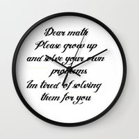 math Wall Clocks featuring Math problems by BlackBlizzard