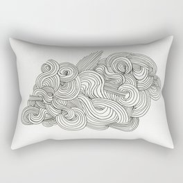 Doodle Cloud Rectangular Pillow