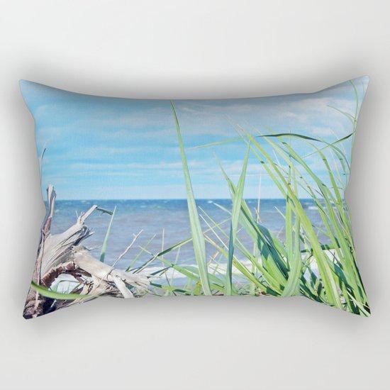 Through Grass and Driftwood Rectangular Pillow
