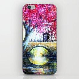 Tardis At The Bridge Tree Blossom iPhone Skin