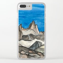 Monte Fitz Roy Clear iPhone Case