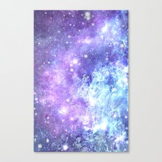 Grunge Galaxy Lavender Periwinkle Blue Canvas Print