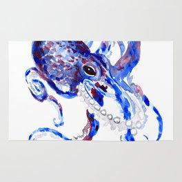 Blue Purple Octopus Rug
