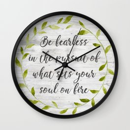 what sets your soul on fire Wall Clock