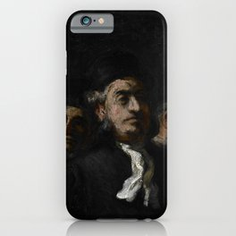 """Honoré Daumier """"A Meeting of Lawyers"""" iPhone Case"""