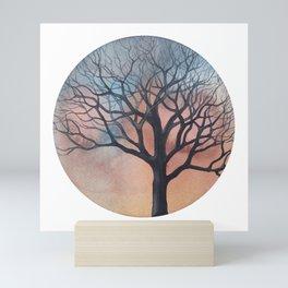 Tree on a beautiful January afternoon Mini Art Print