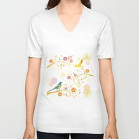 autumn V-neck T-shirts featuring Autumn by Kakel
