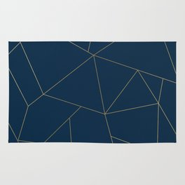 Golden Crystal Web Pattern Rug