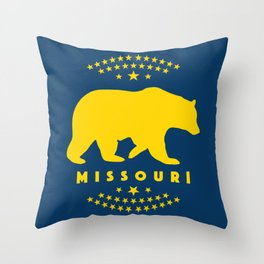 Missouri Black Bear Throw Pillow
