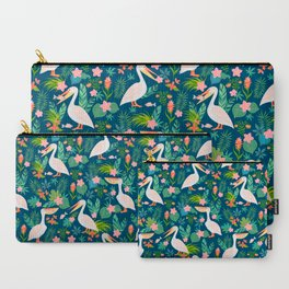 Floral Pelican Carry-All Pouch