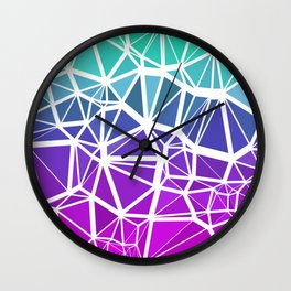 Low Poly Jewel Tones Gradient Wall Clock